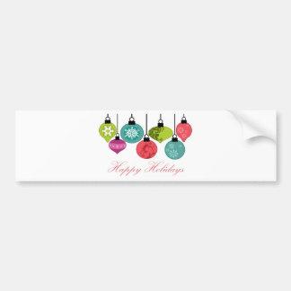 Christmas Ornaments Happy Holidays Bumper Sticker