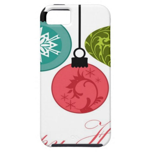Christmas Ornaments Happy Holidays iPhone 5 Covers