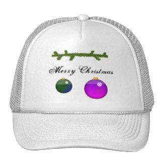 Christmas Ornaments Mesh Hat