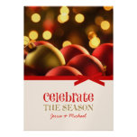 Christmas Ornaments Holiday Cards Personalized Invitation