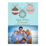 Christmas Ornaments Holiday Flat Card-blue Personalized Announcement