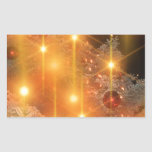 Christmas Ornaments Holiday Tree Destiny Gifts Rectangular Stickers