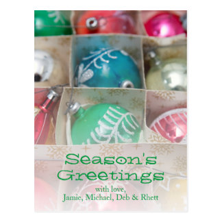 Christmas Ornaments In Box Postcard