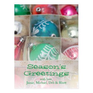 Christmas Ornaments In Box Postcard