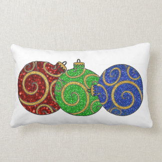 Christmas Ornaments Lumbar Pillow