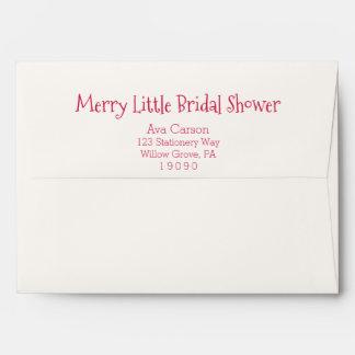 Christmas Ornaments Merry Little Bridal Shower Envelope