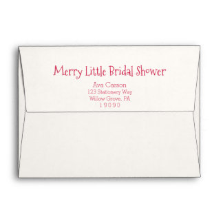 Christmas Ornaments Merry Little Bridal Shower Envelope