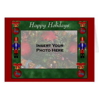 Christmas Ornaments Nutcrackers Holiday Photo Card