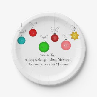 Christmas Ornaments Paper Plate