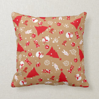Christmas ornaments pattern pillow
