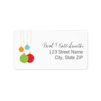 Christmas Ornaments Personalized Address Labels