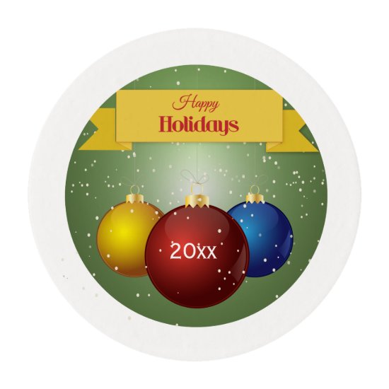 Christmas Ornaments -Personalized -Edible Frosting Edible Frosting Rounds