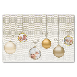 Christmas Ornaments Photo Template Gold ID251 Tissue Paper
