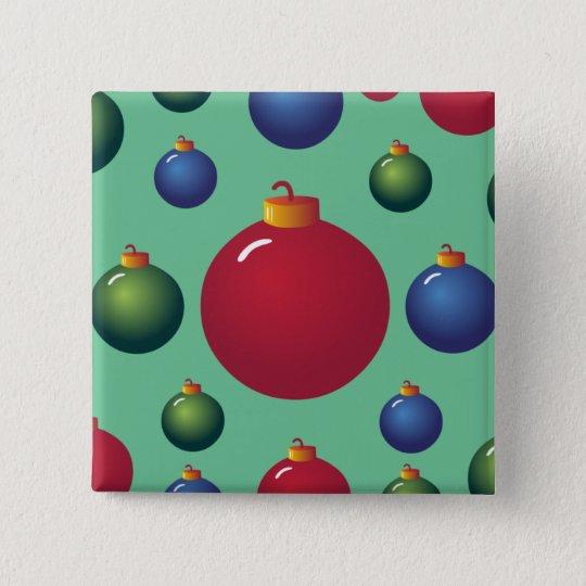 Christmas Ornaments Pinback Button