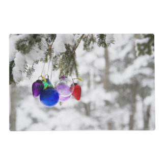Christmas ornaments placemat