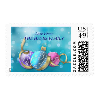 Christmas Ornaments Postage Stamp