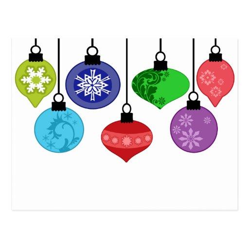 Christmas Ornaments Postcard
