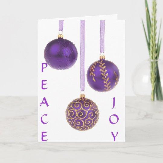 Christmas ornaments purple seasons greetings holiday card zazzle christmas ornaments purple seasons greetings holiday card m4hsunfo