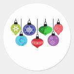 Christmas Ornaments Round Sticker