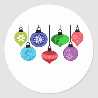 Christmas Ornaments Round Sticker
