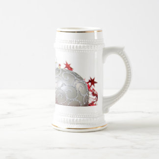 Christmas Ornaments Sparkle Beer Stein
