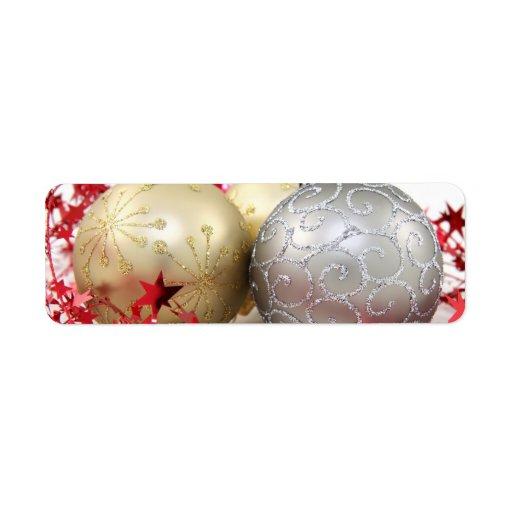 Christmas Ornaments Sparkle Labels
