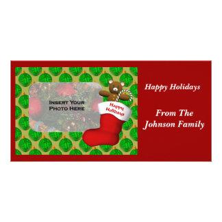 Christmas Ornaments Stocking Holiday Photo Card