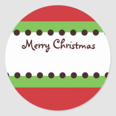 Christmas Orniment Gift Sticker at Zazzle