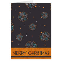 christmas, xmas, winter, holidays, balls, decoration, presents, gifts, joy, happiness, joyful, snowflakes, Card with custom graphic design