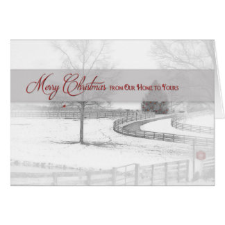 Christmas-Our Home/Yours - Horse Ranch-Winter/Snow Card