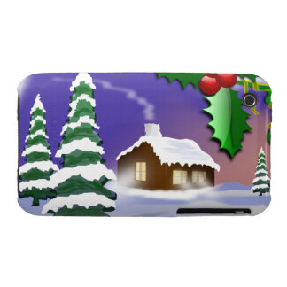 Christmas Outdoor Scene iPhone 3 Case-Mate Cases