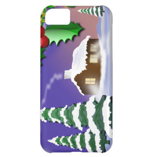 Christmas Outdoor Scene iPhone 5C Cases