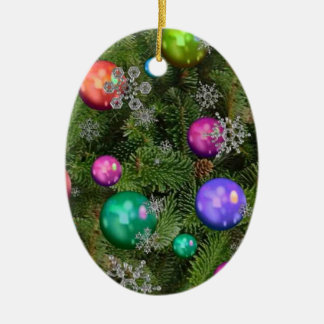 Christmas oval ornaments