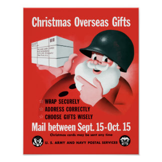 Christmas Overseas Gifts -- WWII Posters