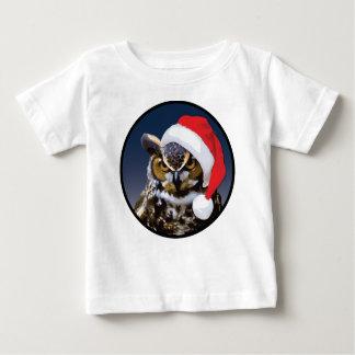 Christmas Owl - Baby Fine Jersey T-Shirt