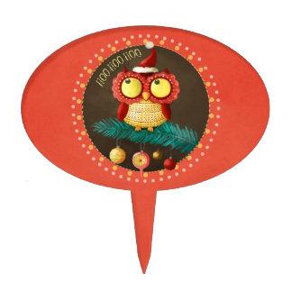 Christmas Owl Cake Topper
