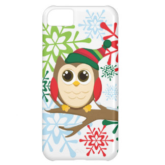 Christmas owl cover for iPhone 5C