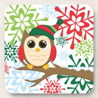 Christmas owl coaster