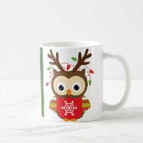 Christmas Owl Coffee Mug