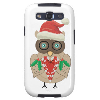 Christmas Owl (drawn by ©dollface766) Galaxy S3 Case