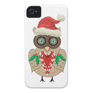 Christmas Owl (drawn by ©dollface766) iPhone 4 Case-Mate Cases