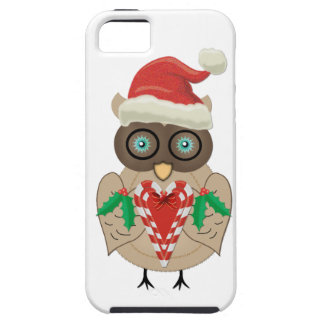 Christmas Owl (drawn by ©dollface766) iPhone 5 Cover