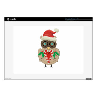 Christmas Owl (drawn by ©dollface766) Decals For Laptops