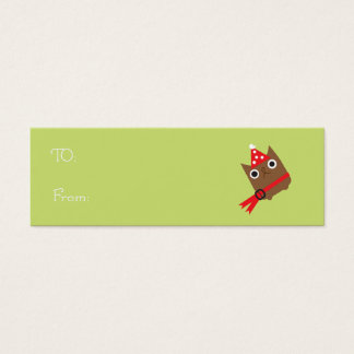 Christmas Owl Gift Tags (skinny buisness Cards)