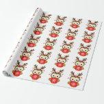 Christmas Owl Gift Wrap Paper