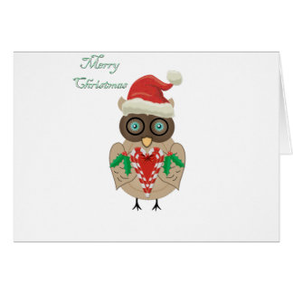 Christmas Owl (hand drawn by ©Dollface766) Greeting Card