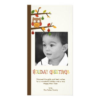 Christmas Owl Holiday Photo Card Photo Cards