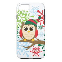 Christmas owl iPhone 8/7 case