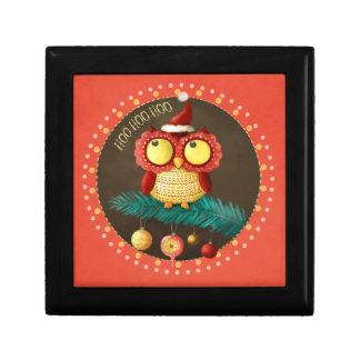 Christmas Owl Jewelry Box