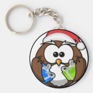 Christmas Owl Keychain